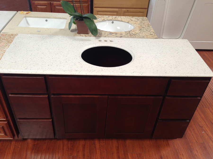 kitchen cabinets rta table island combo granite vanity top - prefab cabinets,rta ...