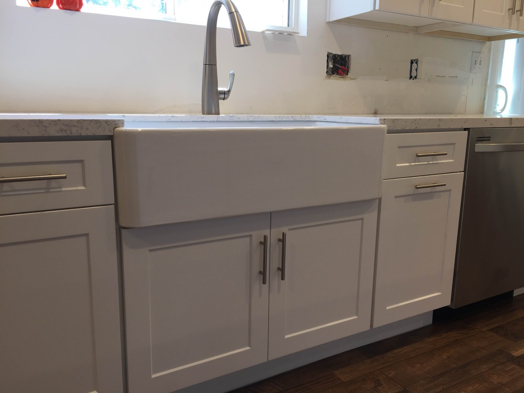 full kitchen cabinets estimate for white shaker overlay with quartz