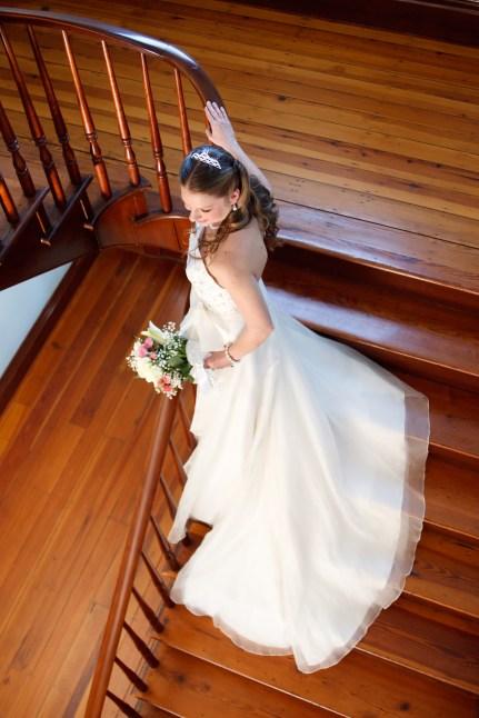 Hightower Hall Bridal Portrait on stairway