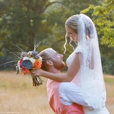 Backlit Wedding Couple