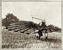 Percy S. Pilcher preparing to take off, September 1899.
