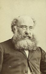 Anthony Trollope, as photographed by Napoleon Sarony.  Taken from Wikimedia Foundation.