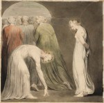 Blake Christ and Woman in Adultery, William Blake
