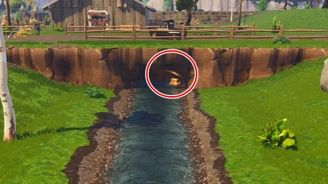フェイタル・フィールドの川のなかにある宝箱の位置