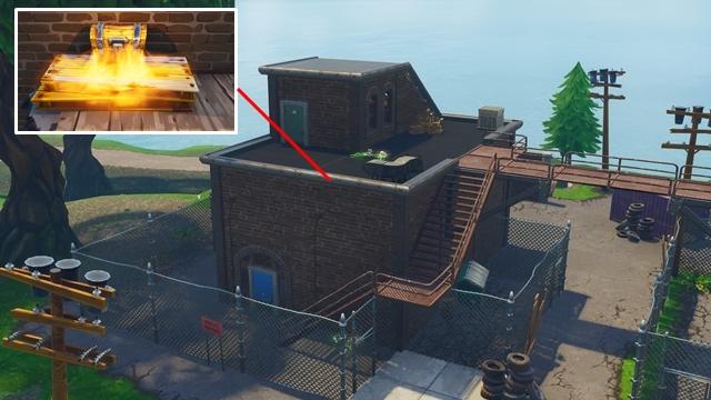 3階建ての建物の中にある宝箱