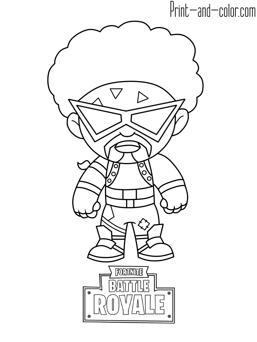 Omega coloring pages fortnite