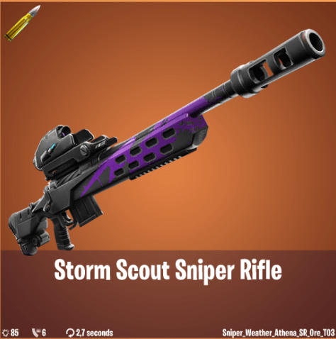 Fortnite Weapon Leak - Storm Scout Sniper Rifle Legendary