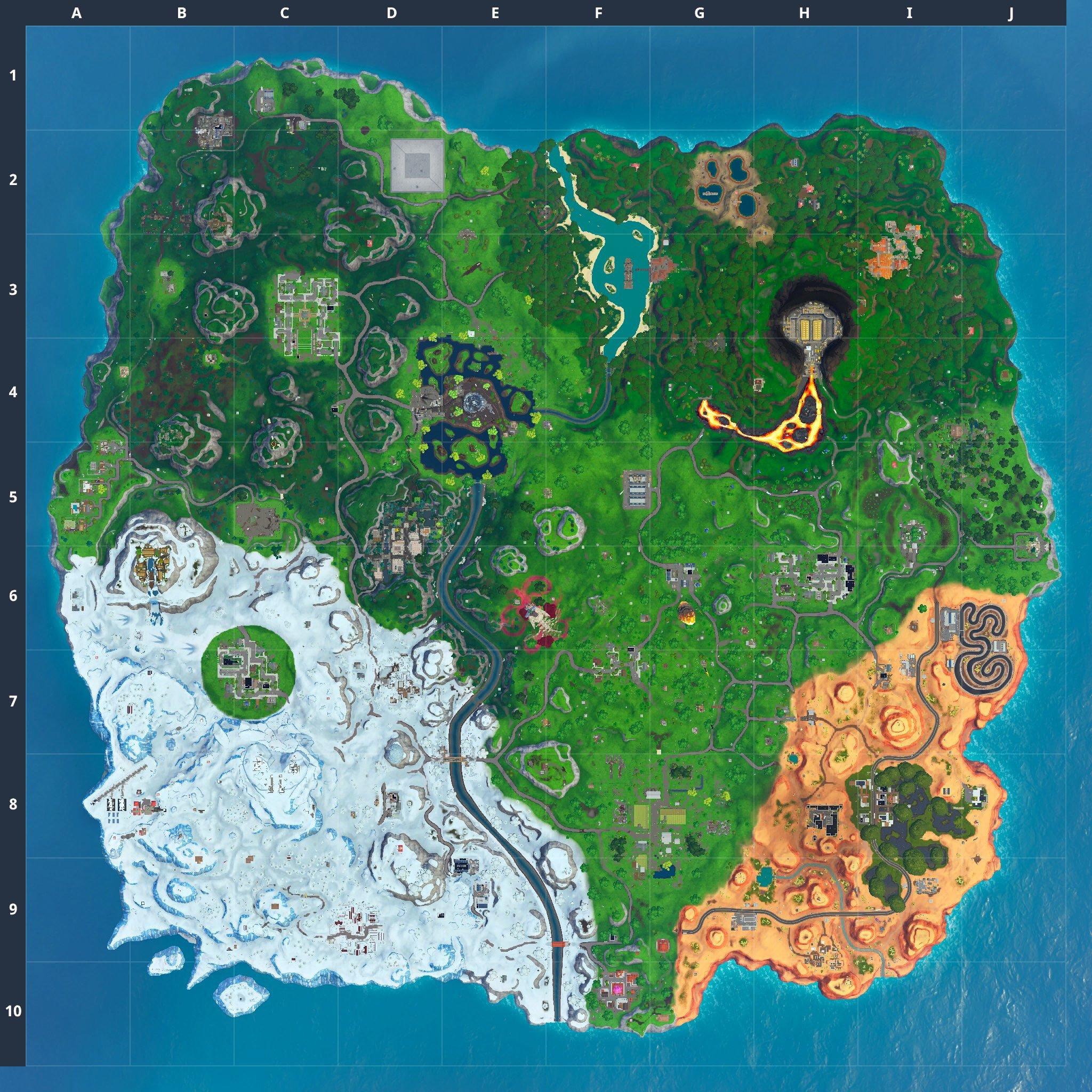 Fortnite v10.30 map