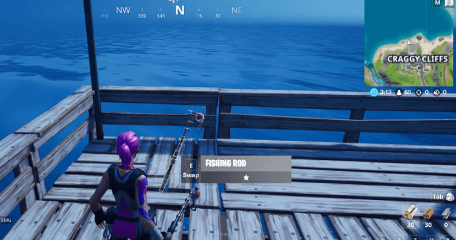 Fortnite C2:S1 Fishing Rod Location