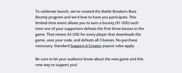 Battle Breakers Bounty Program