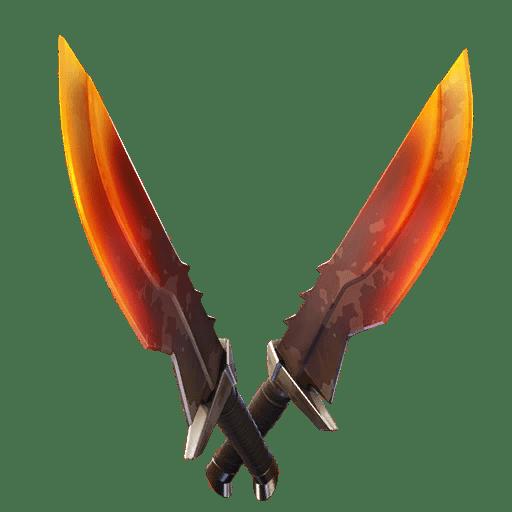 Fortnite v11.20 Leaked Pickaxe - Burning Blades