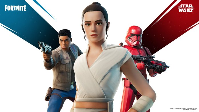 Pacchetto skin Fortnite Star Wars Rise of Skywalker