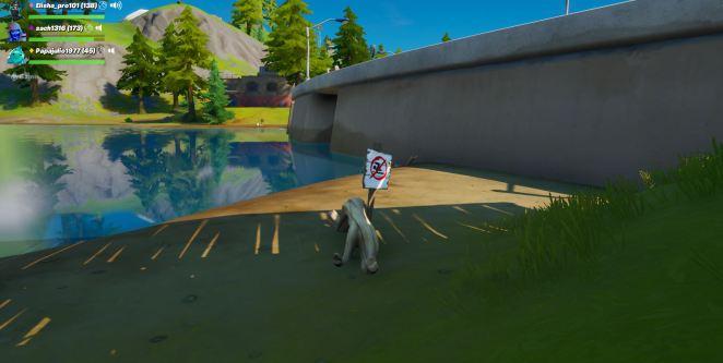 Fortnite No Swimming Signs