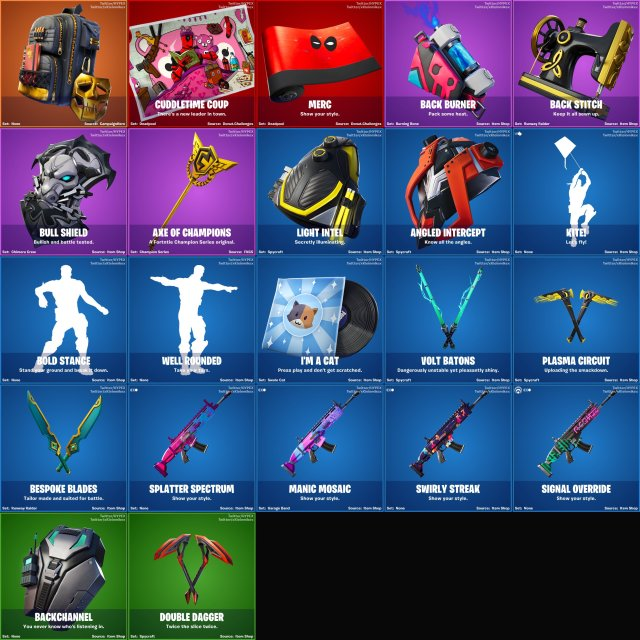 All Fortnite v12.20 Leaked Cosmetics