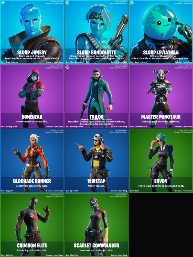 All Fortnite v12.20 Leaked Skins
