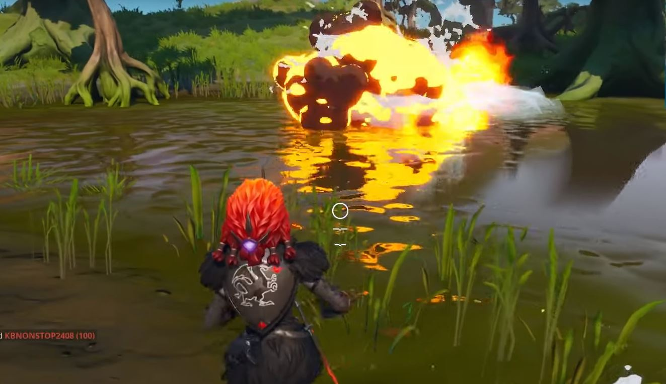 Fish with explosives