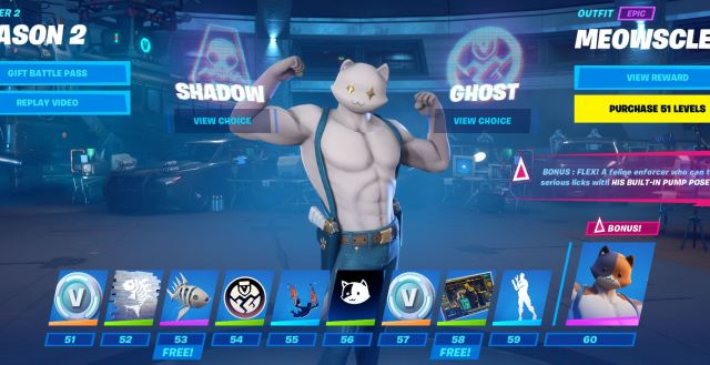Fortnite Meowscles Ghost Skin Style