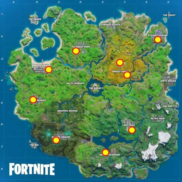 Fortnite Deliver Fish to Ghost Mailboxes Map Location