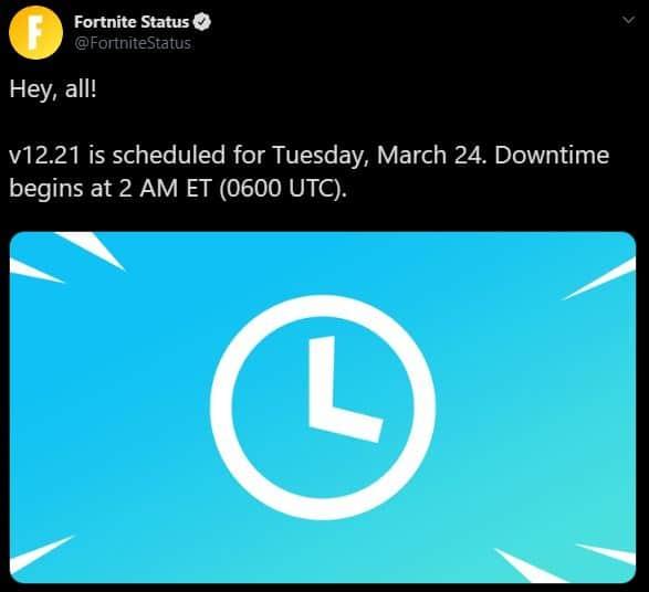 Fortnite Update v12.21
