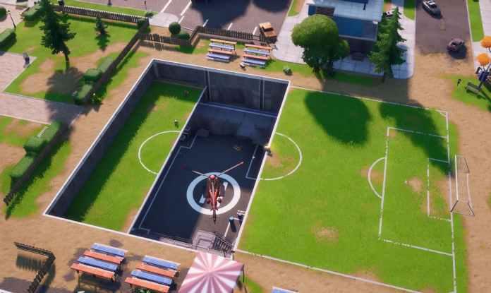 Modifiche mappa Fortnite v12.20 - Pleasant Park Helipad