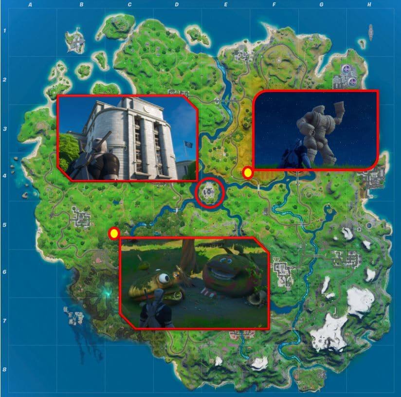 Fortnite Map Locations - The Agency, Hayman and Greasy Graves
