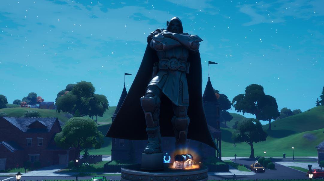 Doctor Dooms Statue in Fortnite