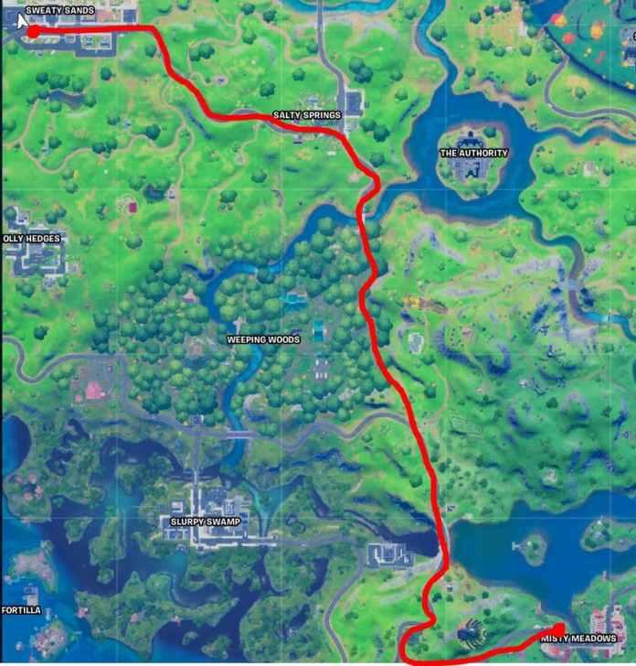 Guidare auto sudate sabbie a Misty Meadows Route