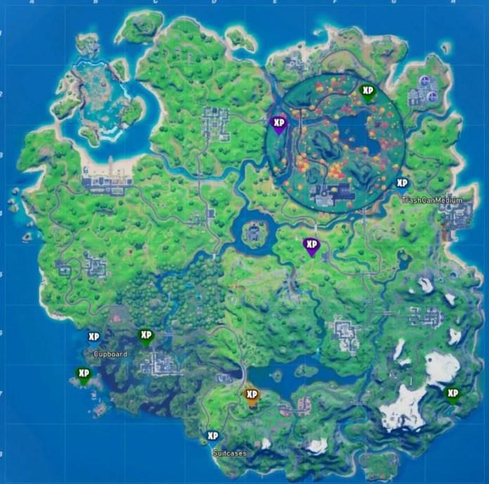 Fortnite Stagione 4 Settimana 8 Mappa delle posizioni di tutte le monete XP