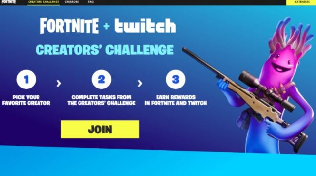 Fortnite Twitch Creators Challenge