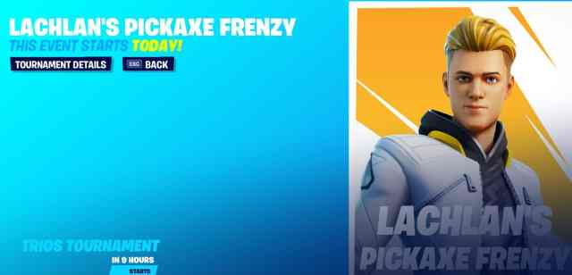 Lachlan's Pickaxe Frenzy Fortnite Cup Tournament