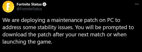 November 4th Fortnite Update