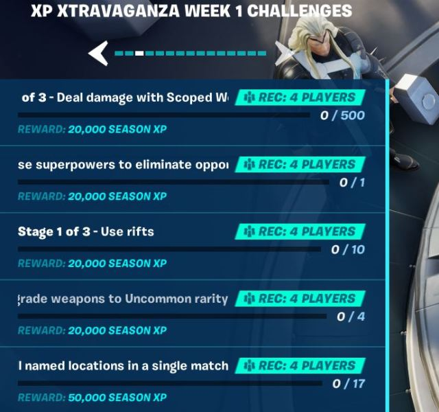 XP Xtravaganza Fortnite
