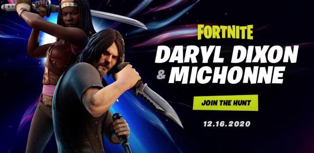 Daryl Dixon and Michonne Fortnite Skins