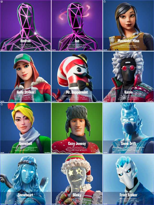 Fortnite v15.10 Leaked Skins
