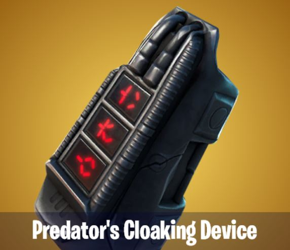 Predator's Cloaking Device Fortnite