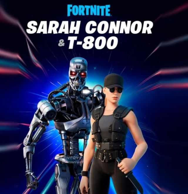 T-800 and Sarah Connor Fortnite Skins