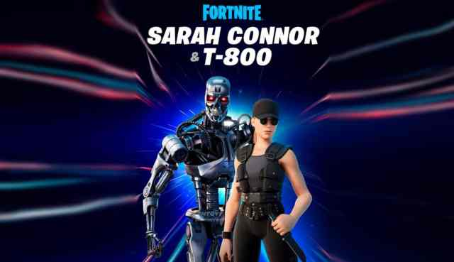 Terminator and Sarah Connor Fortnite Skins