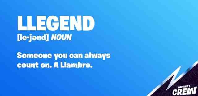 Llambro Fortnite teaser