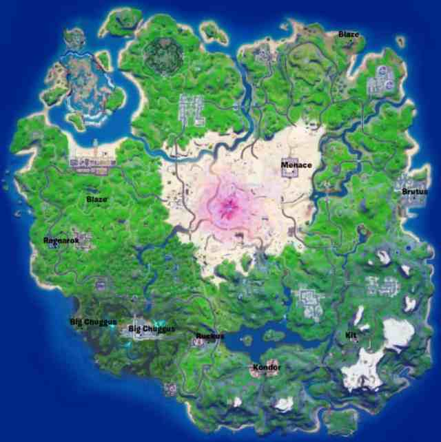 Duel Characters Fortnite Locations