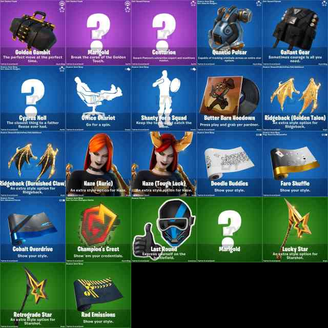 Fortnite Leaked Skins & Cosmetics v15.50