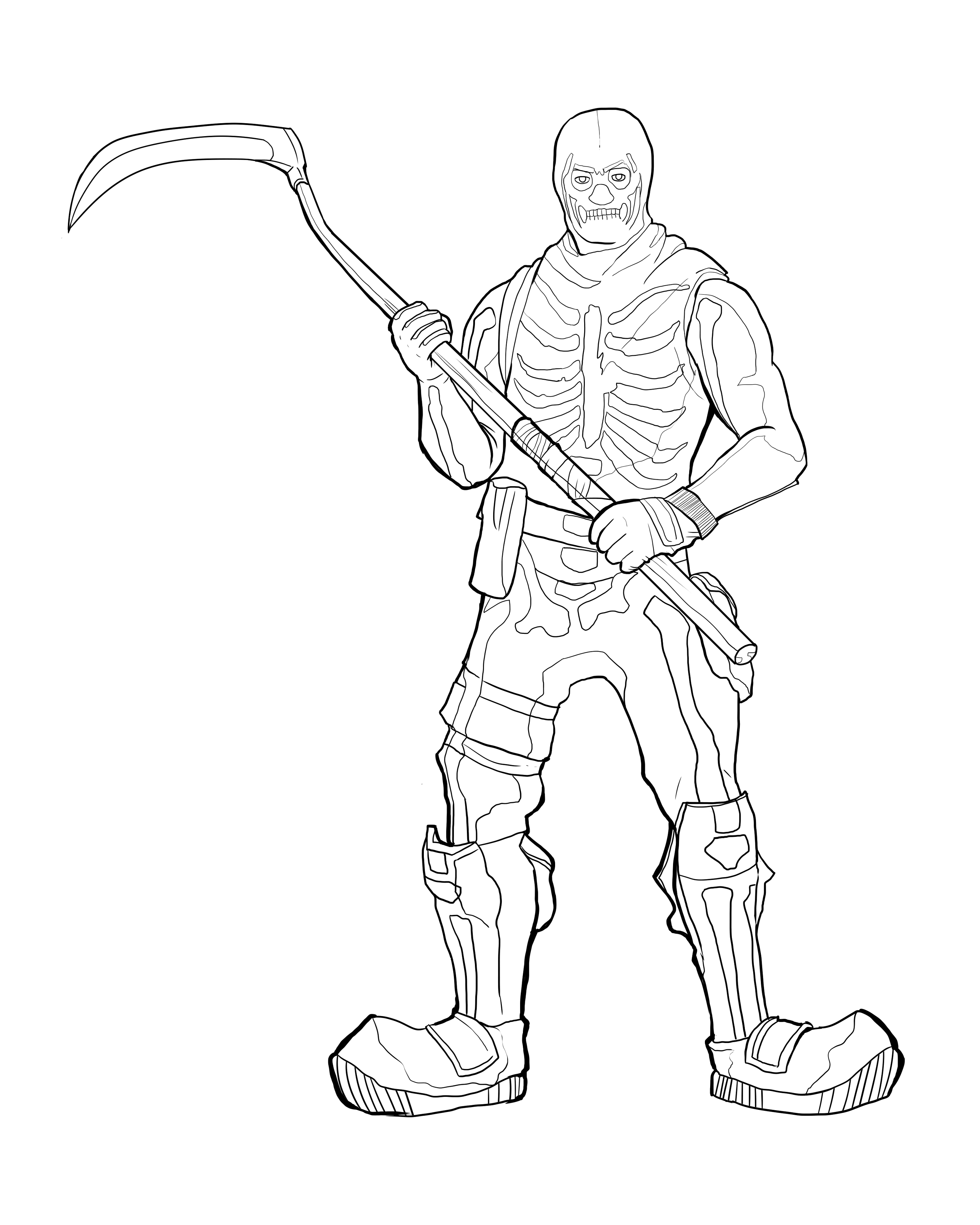 Fortnite Coloring Pages Skins