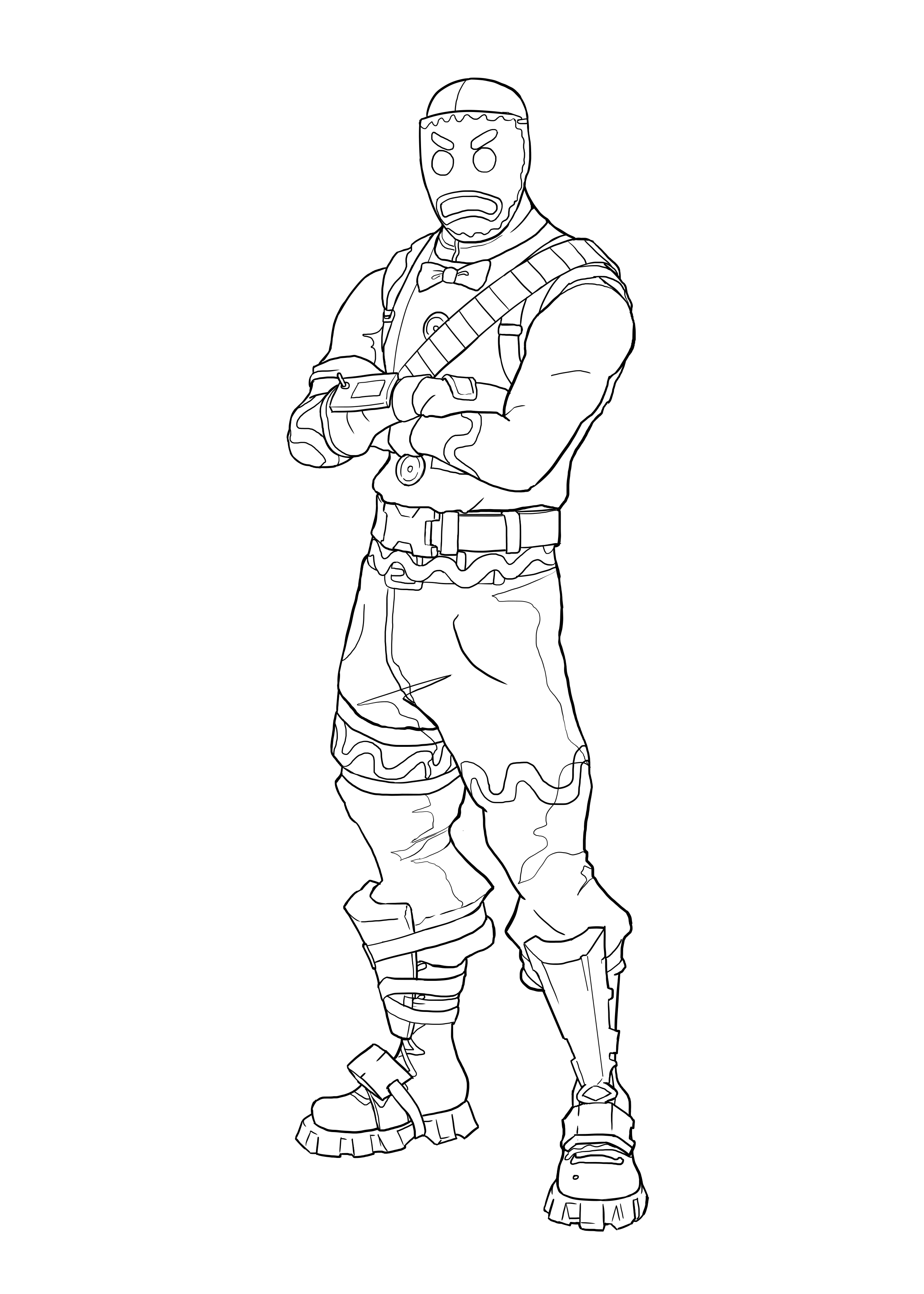 Fortnite Lynx Skin Coloring Pages