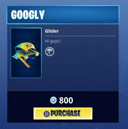 Fortnite Googly Glider | Rare Glider - Fortnite Skins