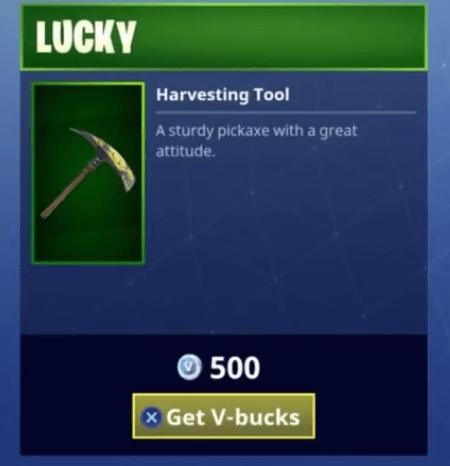 Fortnite Lucky Harvesting Tool | Uncommon Pickaxe - Fortnite