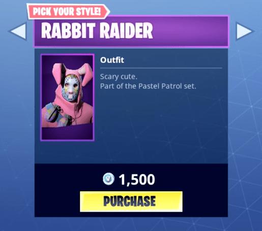 Fortnite Rabbit Raider Skin Epic Outfit Fortnite Skins