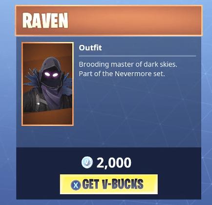 Fortnite Raven Skin | Legendary Outfit - Fortnite Skins