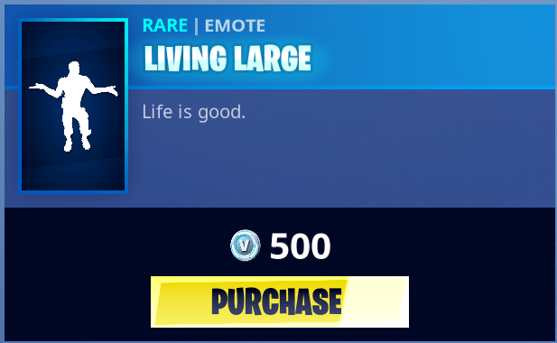 living large skin 1 - living large emote fortnite