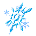 Snow Crystal Back Bling