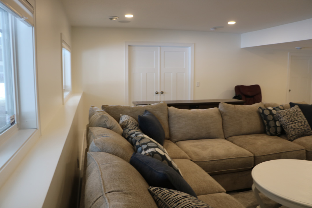 couch and new basement build