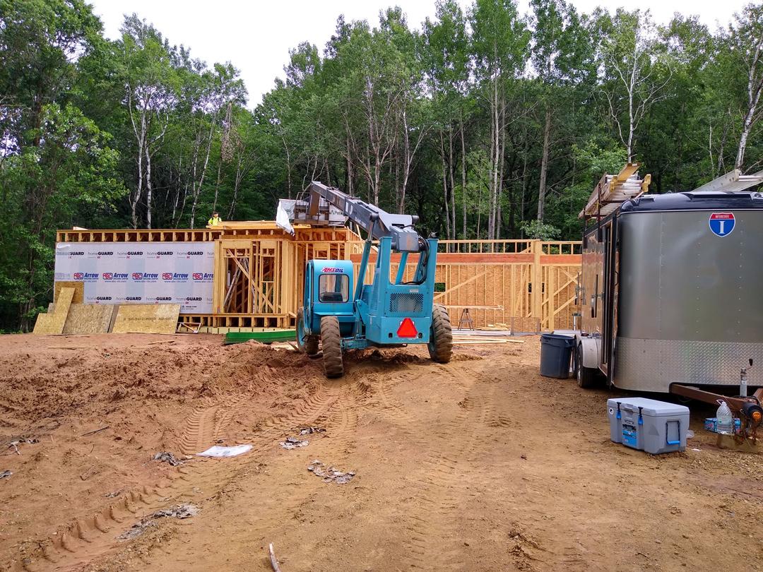 First floor level being built